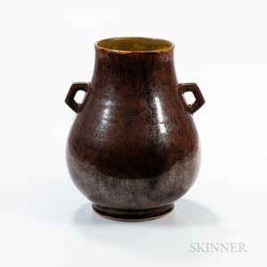 Large Iron Rust-glazed Vase