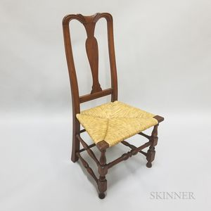 Queen Anne Carved Cherry Side Chair