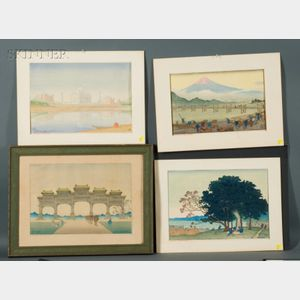 Charles William Bartlett (British, 1860-1940)    Lot of Four Views: Peking: Gateway to Ming Tombs;   Taj Mahal