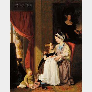 John Thomas Peele (British, 1822-1897)      The Young Family