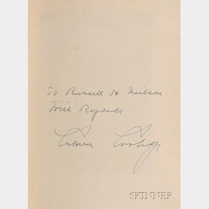 Coolidge, Calvin (1872-1933), Signed Copy