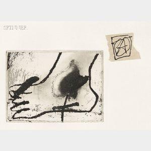 Antoni Tàpies (Spanish 1923-2012)      Pied et collage