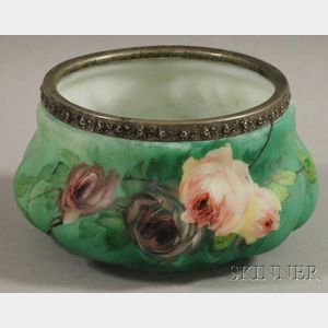 Hand-painted Art Glass Vessel