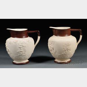 Two Turner White Stoneware Jugs
