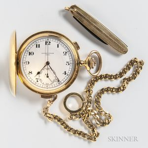 18kt Gold Quarter-hour Repeater and Chronograph Hunter Case Watch