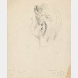Pavel Tchelitchew (Russian/American, 1898-1957)      Study for a Portrait of Charles Henri Ford