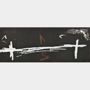 Antoni Tàpies (Spanish, b. 1923)      Double croix