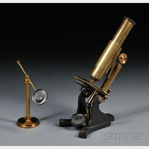 Brass and Iron Microscope with Freestanding Condenser