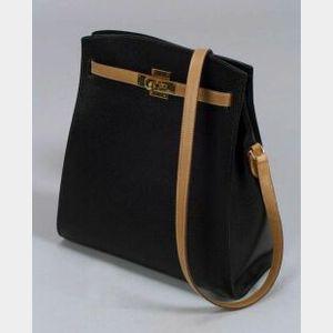 "Black and Brown ""Sport Kelly"" Handbag"