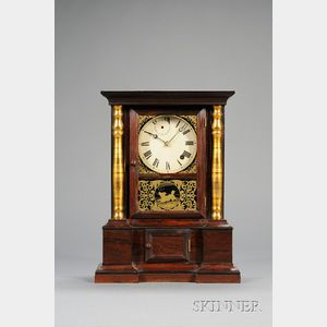 "Rosewood ""London Mantel"" Eight-Day Fusee Shelf Clock by Atkins Clock Company"