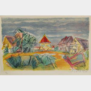 Jacques Villon (French, 1875-1963)      Le Pigonnier Normand