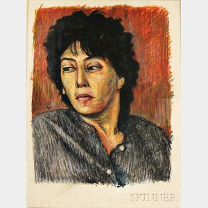 Jon Imber (American, b. 1950)      Portrait of a Woman Glancing Right
