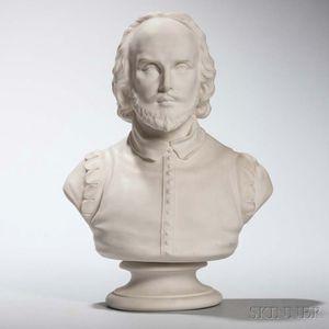 Wedgwood Carrara Bust of Shakespeare