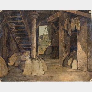 John Ferguson Weir (American, 1841-1926)      Windmill Interior