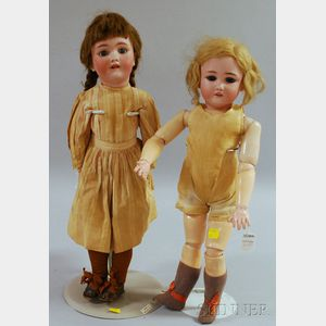 Two Simon and Halbig Bisque Dolls