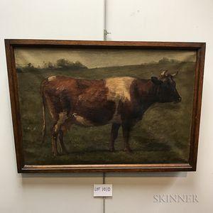 Joseph Foxcroft Cole (American, 1837-1892)       Portrait of a Cow.