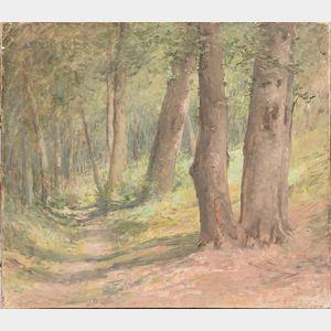 John Ferguson Weir (American, 1841-1926)      Forest of Compiegne