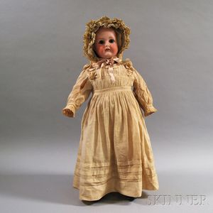 Large C.M. Bergmann Bisque-head Girl Doll