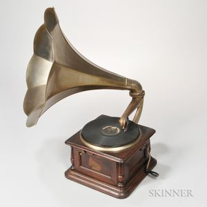 Columbia Disc Graphophone and Horn