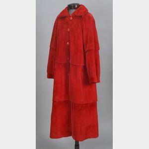 Red Sheared Mink Coat