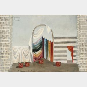 Pavel Tchelitchew (Russian/American, 1898-1957)      Set Design for Saint Francis (Noblissima Visione)