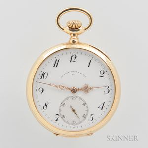 Bailey, Banks & Biddle 18kt Gold Open-face Watch