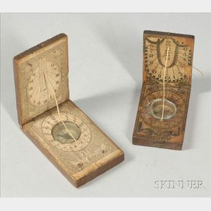 Two Fruitwood Diptych Dials