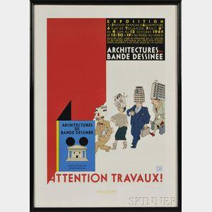 Joost Swarte (Dutch, b. 1947)      Attention Travaux! Architectures de Bande Dessinee