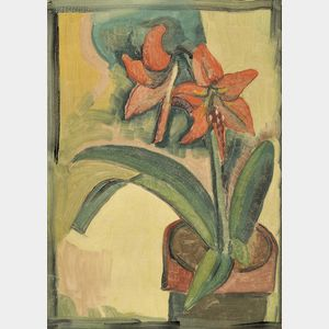 Blanche Lazzell (American, 1878-1956)      Amaryllis