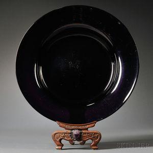 Aubergine Glass Basin
