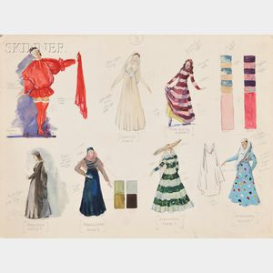 Pavel Tchelitchew (Russian/American, 1898-1957)      Costume Designs for Saint Francis (Noblissima Visione)