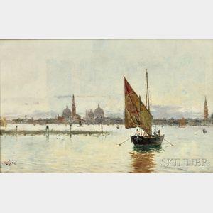 Antonio María de Reyna Manescau (Spanish, 1859-1937)      View of Venice