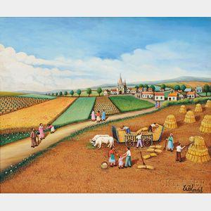 Emile Blondel (French, 1893-1970)      La Moisson