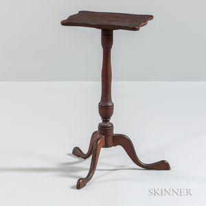 Serpentine-top Candlestand