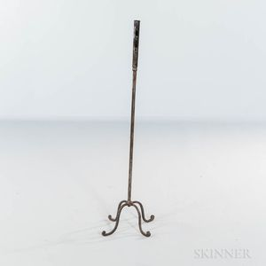 Standing Wrought Iron Push-up Candlestick