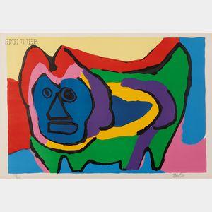 Karel Appel (Dutch, 1921-2006)      Untitled (Cat)