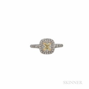 "Tiffany & Co. Colored Diamond and Diamond ""Soleste"" Ring"