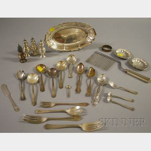Approximately Twenty-seven Sterling Silver Flatware, Serving, and Table Items