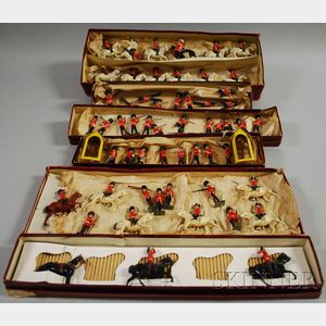 Fifty-eight Assorted Britains Soldiers