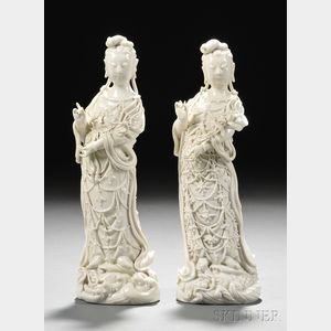 Two Blanc de Chine Figures
