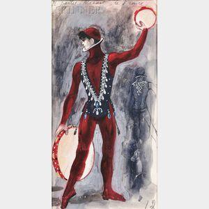 Pavel Tchelitchew (Russian/American, 1898-1957)      Costume Design for The Prince in Violin Concerto