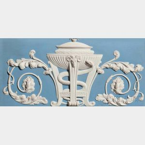 Wedgwood Solid Light Blue and White Jasper Mantle Plaque