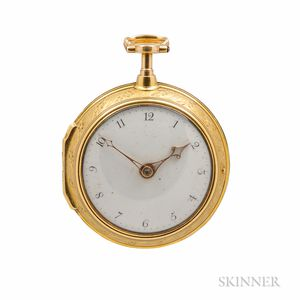 Charles Howse 18kt Gold Pair-case Watch