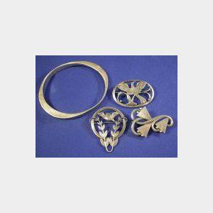 Three Silver Pins, Georg Jensen