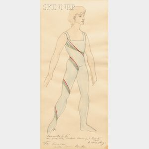 Rouben Ter-Arutunian (American, 1920-1992)      Costume Design for Peter Martins in Concerto in G