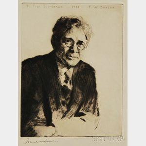 Frank Weston Benson (American, 1862-1951)      Portrait (To Fred Saunderson)