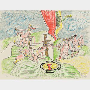 Roberto Matta (Chilean, 1911-2002)      Or dur or aison