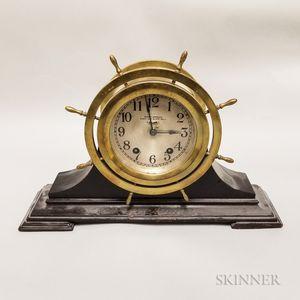 "Seth Thomas ""Mayflower"" Ship's Bell Mantel Clock"