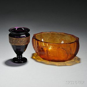 Two Pieces of Moser Glass