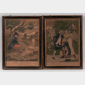 "Set of Four Hand-colored ""The Prodigal Son"" Engravings"